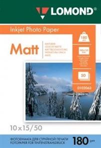 Бумага Lomond A6 10х15 см, Матовая 180/м2 50л (0102063)