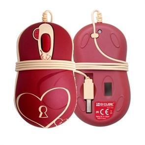 Мышь A4Tech G-Cube Enchanted - Heart & Soul, мини, коралловая, USB (GOE-6DS)