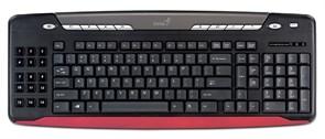 Клавиатура Genius Slim Star 335, игровая, slim, влагоустойчивая, USB