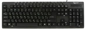 Клавиатура Gembird KB-8300UM-BL-R, черная, 15 м/мед клавиш, USB