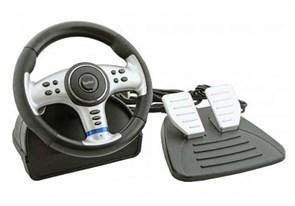 Руль Saitek PW21 для ПК/PS2/PS3/Xbox первый (вибрация, 11 кнопок в т.ч. джойстик, педали, угол 180 град.)