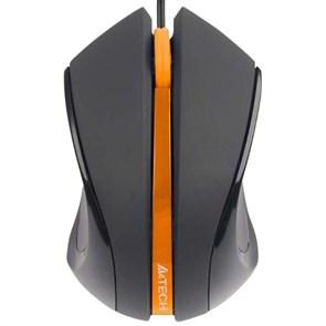 Мышь A4Tech Q3-310-4, черный/оранжевый, USB, оптика, 1000dpi