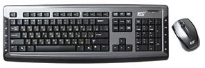 Клавиатура+мышь BTC 9089ARFIII Black, Cordless, тонкая кл-ра+лазерн.мышь, USB