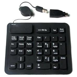 Цифровой блок Agestar HSK910, гибкий, черный, 33кл., USB+PS/2