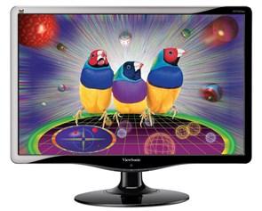 "LCD 22"" Viewsonic VA2232w Black (16:10, 56см, 1680x1050, 300кд, 2000:1, 170/160°, DVI)"