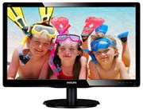 """LCD 19.5"""" Philips 200V4LAB/00(01) Black (16:9, 49.5см, W-LED, 1600x900, 1000:1, 5мс, DVI, m/m)"""