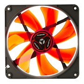Вентилятор Floston Red Impeller 140PM 140x140x25мм, 3-pin, 52.17 CFM, 21dB, sleeve