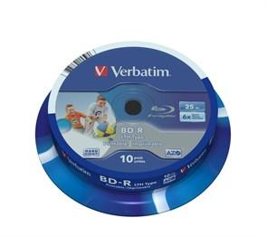 BD-R 25GB Verbatim 6x, printable (упаковка 10шт. на шпинделе) (43751)