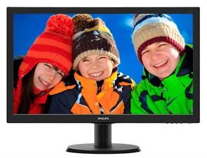 "LCD 23.6"" Philips 243V5LSB/00(01) Black (16:9, 59.9см, W-LED, 1920x1080, 170°/160°, 5мс, DVI)"