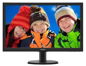 "LCD 23.6"" Philips 243V5QHAB/00(01) Black (16:9, 59.9см, MVA, W-LED, 1920x1080, 178°/178°, 4(10)мс, DVI)"