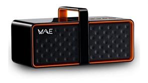 Hercules WAE BTP03 (Bluetooth, 2x2Вт, аккум. до 14часов, черно-оранжевые) (4780558)