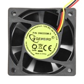 Вентилятор Gembird 60х60x25мм, питание 3-pin, подш. скольжения