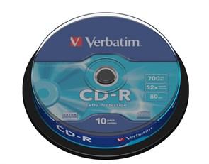 CD-R 700Mb 80min Verbatim 52x Extra Protection (упаковка 10шт. на шпинделе) (43437)