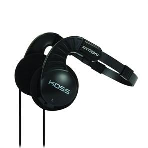 Koss Sporta Pro (оголовье, открытые, чёрные, 15Гц-25кГц, 60Ом, 103 дБ/мВт, 3.5мм, кабель 1,2 м, складные)