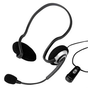 Гарнитура Creative HS-390 (затылочная, открытая, 20Гц-20кГц, 32Ом, 108 дБ/мВт / -37 дБ мик., 2 * 3,5 мм, кабель 2,5м )