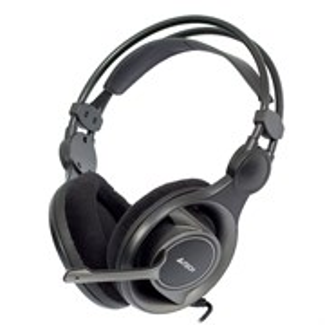 Гарнитура A4Tech HS-100 (оголовье, 20Гц-20кГц, 32Ом, 111дБ / -58 дБ мик., 2 * 3,5 мм, кабель 2м)