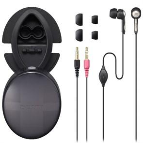 Гарнитура Sony DR-EX230DP (внутриканальная, 6Гц-23кГц, 16Ом, 2x3.5 мм, микрофон, шнур 1.2м, сменные насадки)