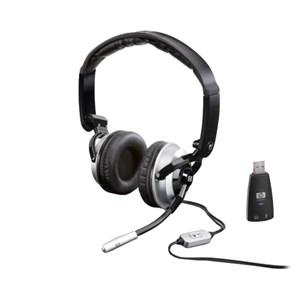 Гарнитура HP Premium DHS KJ270AA  (оголовье, закрытая, 20Гц-20кГц, 32Ом, -44 дБ мик., 2 * 3,5 мм или USB, кабель 1,5м)