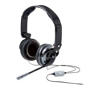 Гарнитура HP Premium HS RF823AA (оголовье, закрытая, 20Гц-20кГц, 32Ом, -44 дБ мик., 2 * 3,5 мм, кабель 1,5м, складная)