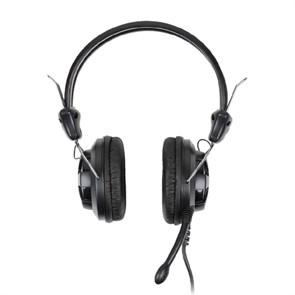 Гарнитура A4Tech HS-28-1 (оголовье, 20Гц-20кГц, 32Ом, 105дБ / -58 дБ мик., 2 * 3,5 мм, кабель 2м)