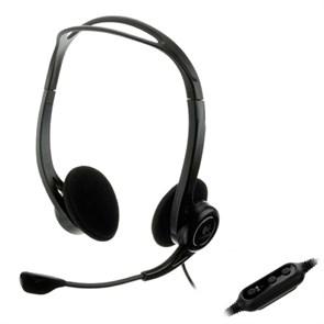 Гарнитура Logitech PC Headset 960 USB (оголовье, открытая, USB) (981-000100)