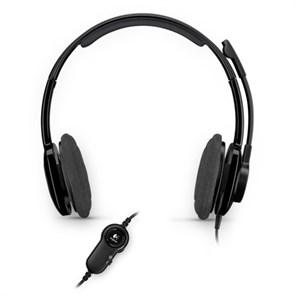Гарнитура Logitech Stereo Headset H250 (оголовье, открытая, черная, 2 * 3,5 мм)