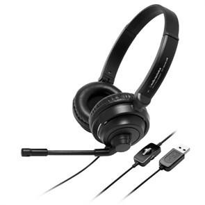 Гарнитура Audio-Technica ATH-750COM USB (18Гц-22кГц, 32Ом, 102дБ, USB, кабель 2м)