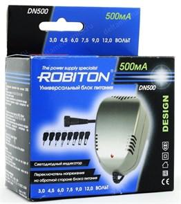 Блок питания Robiton (DN500) (3-12V, 500mA) 8 насадок
