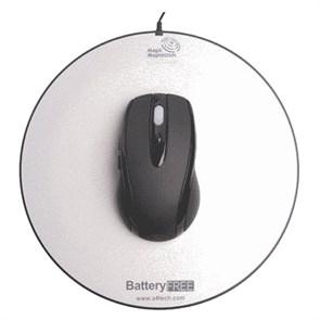 Мышь беспров. A4Tech NB-60 Black, USB, Optical, с ковриком, работает без батареек, 5кн