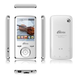 "RITMIX RF-7650 (White, 4GB, MP3/WMA/APE/FLAC/WAV/AVI/JPEG/BMP, FM, диктофон, microSD, 2.4"", камера 3.2 Мп)"