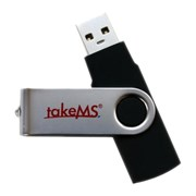 USB 2.0 Flash Drive 16GB takeMS MEM-Drive Mini Rubber Black