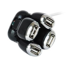 """USB 2.0 Hub 4 port пассивный Konoos UK-01 """"Динозавр"""""""