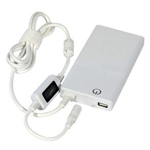Адаптер питания для ноутбука Tesla Energy HAP-03 белый, slim, LED (220В --> 15-24В+USB, 90W, 10раз.)