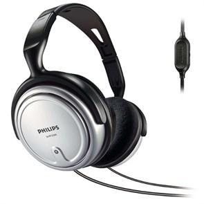Philips SHP2500/10 (оголовье, закрытые, чёрные, 15Гц-22кГц, 32Ом, 106 дБ/мВт, 3,5 + 6,3 мм, кабель 6 м, рег. Громк.)