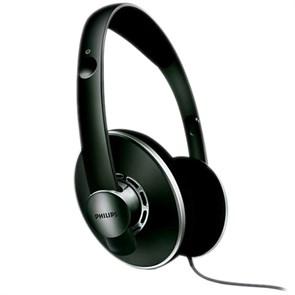 Наушники Philips SHP5400/00 (оголовье, открытые, чёрные, 15Гц-28кГц, 32Ом, 106 дБ/мВт, 3,5 + 6,3 мм, кабель 6 м)