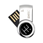 "USB 2.0 Flash Drive 4GB Emtec S360, ""Для него"", металл (EKMMD4GS360)"