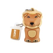 USB 2.0 Flash Drive 4GB Emtec Safari M325, Фигурка Lion (лев)