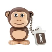 USB 2.0 Flash Drive 4GB Emtec Safari M322, Фигурка Monkey (EKMMD4GM322)