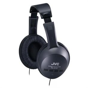 Наушники JVC HA-G101 черные (оголовье, закрытые, чёрные, 8Гц-20кГц, 32Ом, 103 дБ/мВт, 3.5мм, кабель 1,2 м)