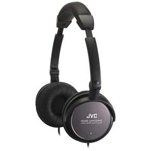 Наушники JVC HA-NC80-E (оголовье, закрытые, чёрные, 10Гц-22кГц, 27/42Ом, 103/105 дБ/мВт, 3.5 мм, шнур 1.2 м, шумоподавл.)