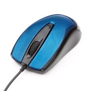Мышь Gembird MOP-405-B, синий, бесшумный клик, USB, 1000dpi