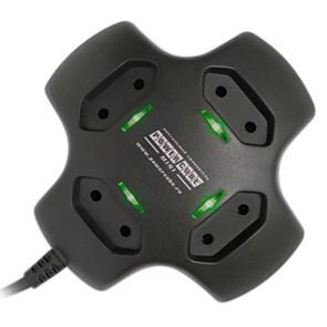 Сетевой удлинитель настольный 4 розетки, 1.8м Power Cube mini, Black