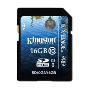 SD Memory Card SDHC 16Gb class10 Kingston UHS-I (SD10G3/16GB)
