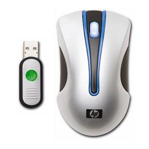 Мышь беспров. HP Wireless Optical Mobile Mouse, silver/Black, USB (KU916AA)