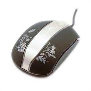 Мышь Jet.A OM-N4, Black, Optical, 1000dpi, мини, soft-покрытие+Al, подсветка, USB