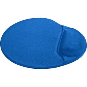 Коврик для мыши с гелевой подушкой Defender Easy Work синий, лайкра, 260х225х5мм (50916)