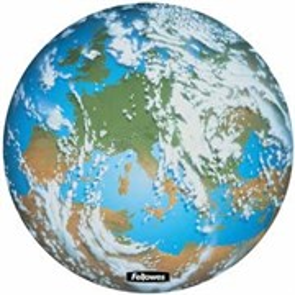 Коврик для мыши Fellowes, Земля, круглый, спец. пластик Brite, 3мм (FS-5881401)