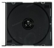 Коробка на 1 CD slim, black tray