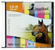 CD-R 700Mb 80min SmartTrack 52x, slim, printable