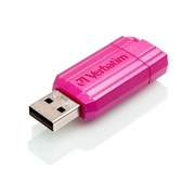 USB 2.0 Flash Drive 16GB Verbatim PinStripe, розовый (#49067)